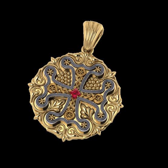 Intricate Cross Pendant
