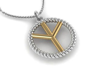 Gold and Silver Peace Sign Necklace